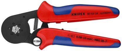 Снимка на Самонастройващи се кримп клещи KNIPEX за кабелни гилзи със странично подаване;975314